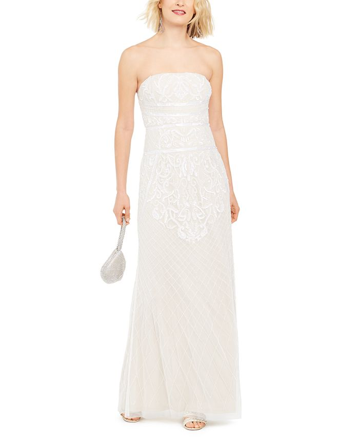 Adrianna Papell - Beaded Strapless Gown