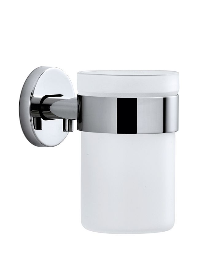 blomus - Wall Mounted Toothbrush Holder Frosted Glass - Polished
