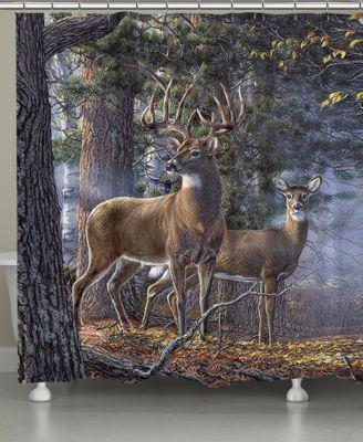 Deer Time Shower Curtain Hooks