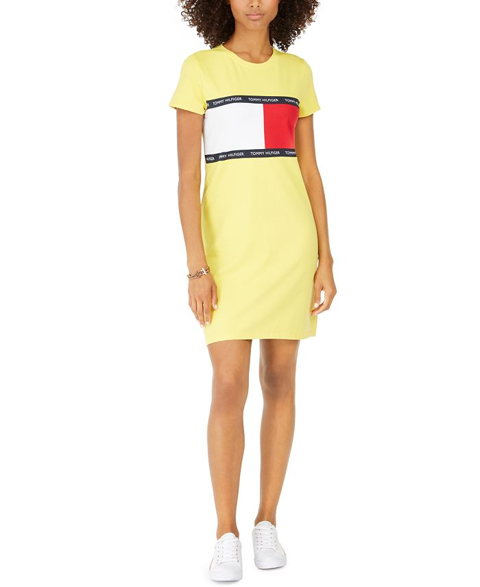 Tommy Hilfiger - Signature-Graphic T-Shirt Dress