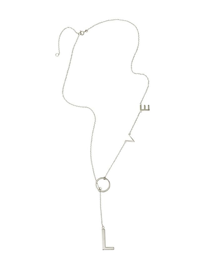 ADORNIA - Love Lariat Necklace