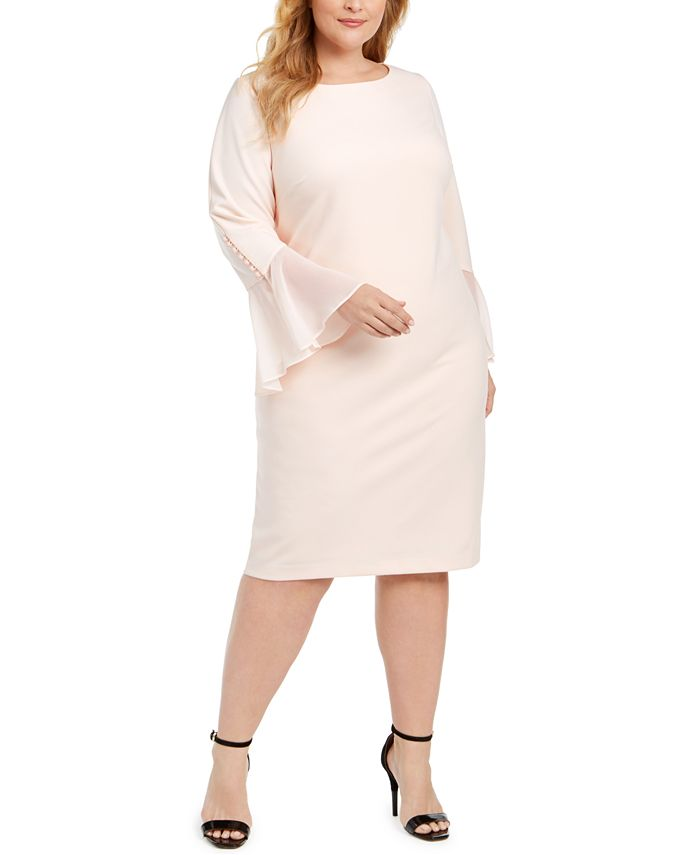 Calvin Klein - Klein Plus Size Illusion Bell-Sleeve Dress