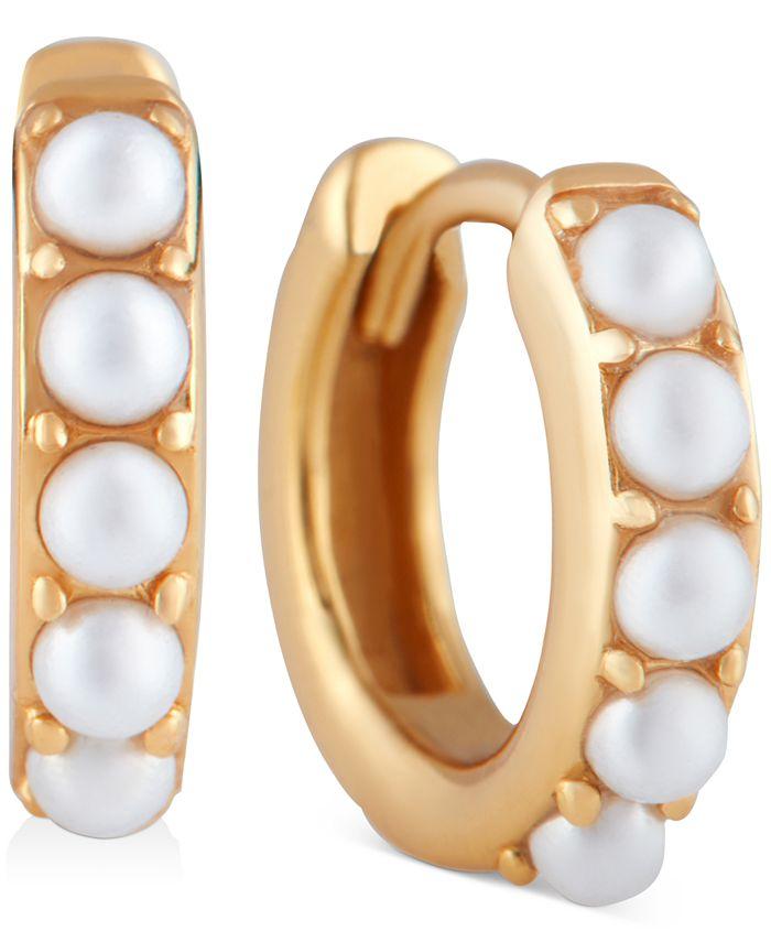 Olivia Burton - Imitation Pearl Huggie Hoop Earrings