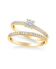 Diamond Bridal Set (1/2 ct. t.w.) in 14k Gold, White Gold or Rose Gold