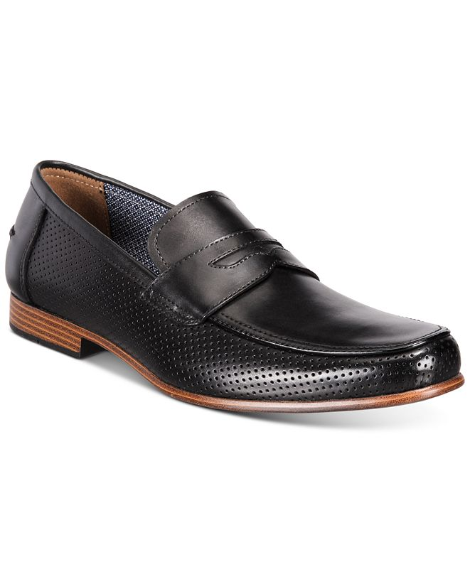 Bar III Men's Peyton Leather Penny Loafers, Created for Macy's