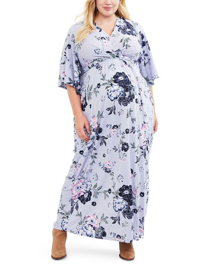 Jessica Simpson - Maternity Plus Size Printed Maxi Dress