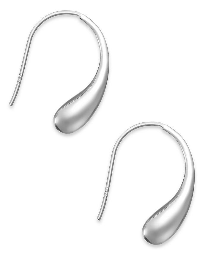Giani Bernini - Sterling Silver Earrings, Teardrop J Hoop Earrings