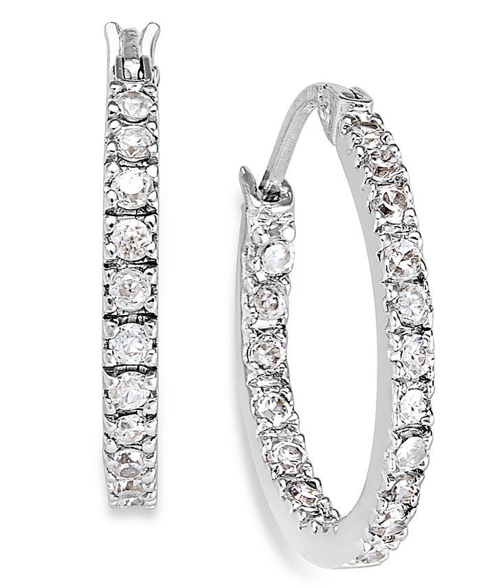 Giani Bernini - Sterling Silver Earrings, Cubic Zirconia Hoop Earrings (3/4 ct. t.w.)