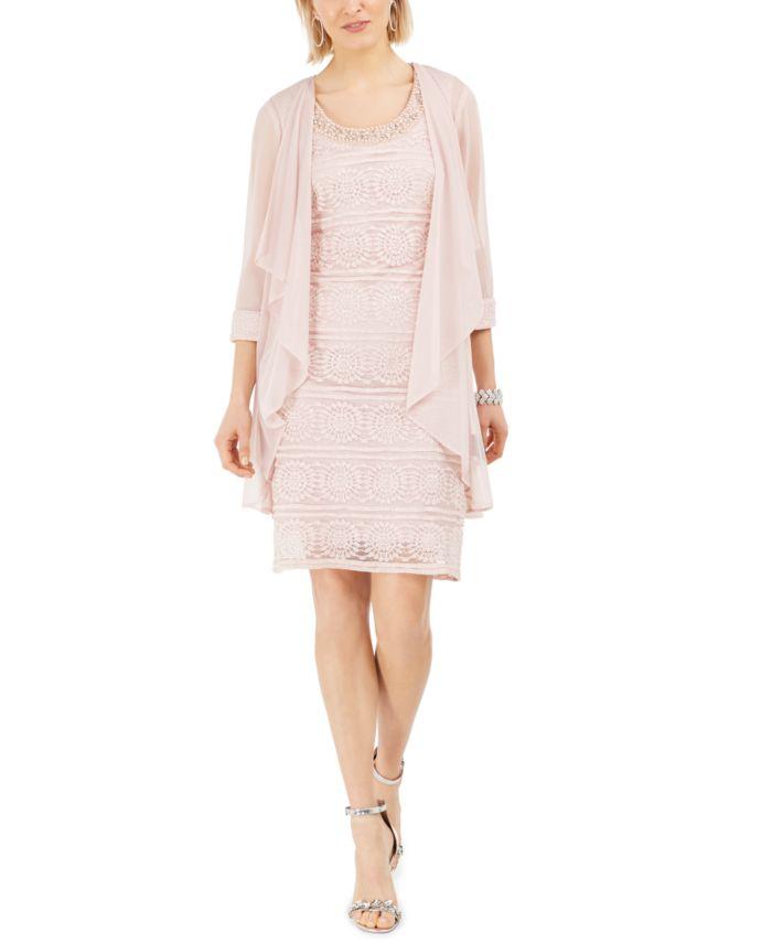 R & M Richards Lace Dress & Jacket  & Reviews - Dresses - Women - Macy's