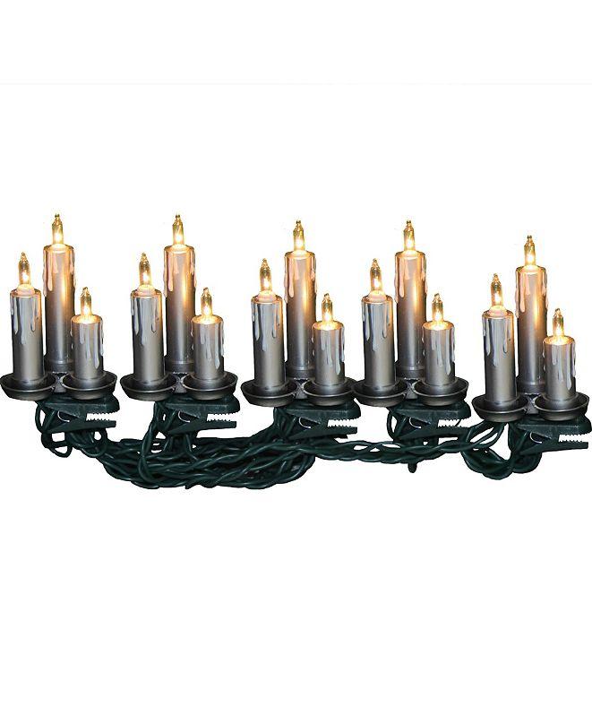 Kurt Adler UL 15-Light Silver Triple Candle Light Set