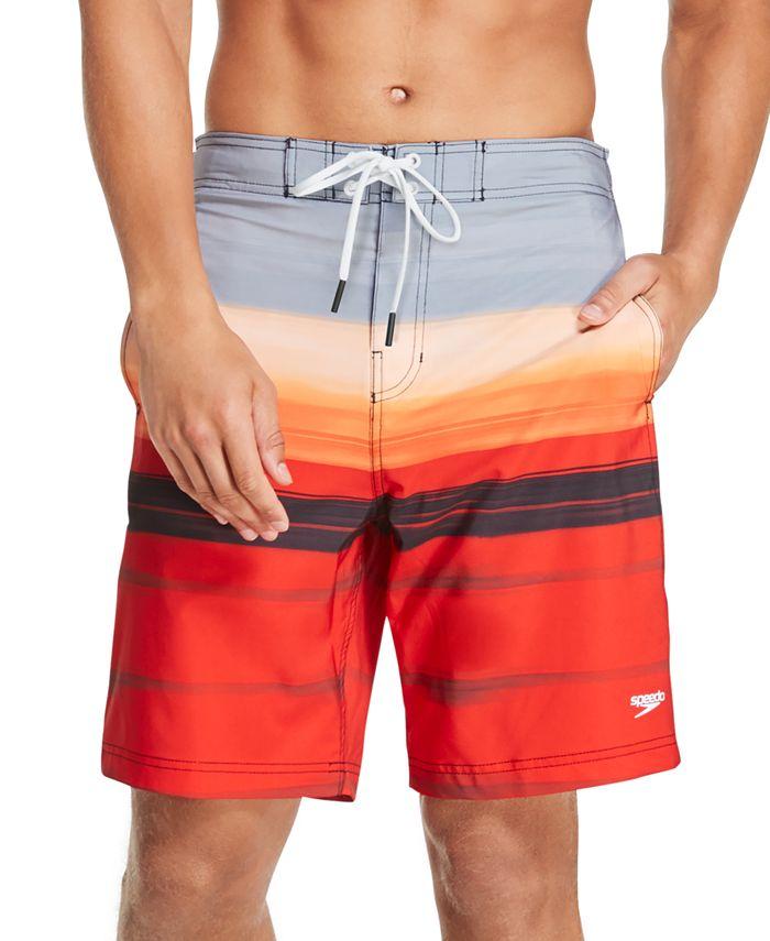 Speedo - Men's Bondi Ombré Gradient Stripe 2-Way Stretch UPF 50+ Board Shorts
