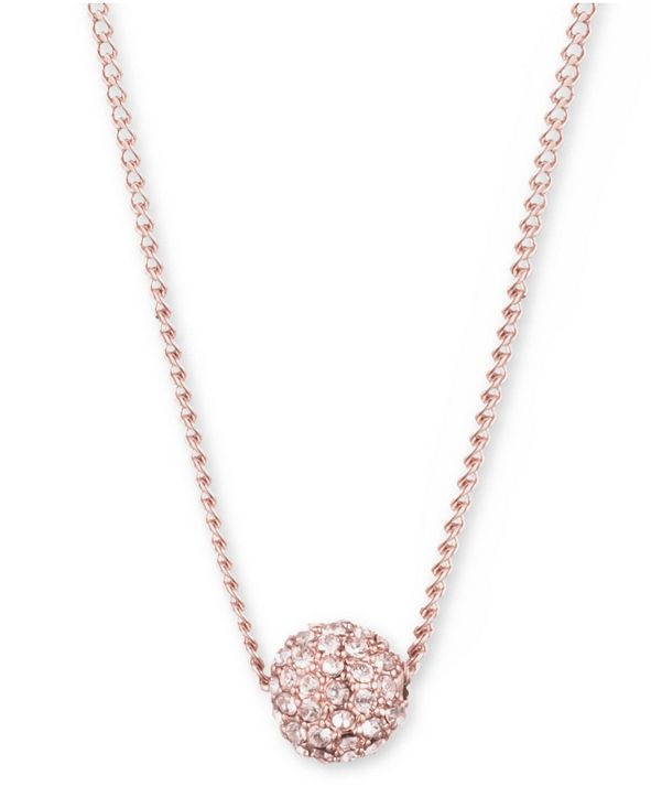 """Givenchy Crystal Fireball Pendant Necklace 16"""" + 2"""" extender"""