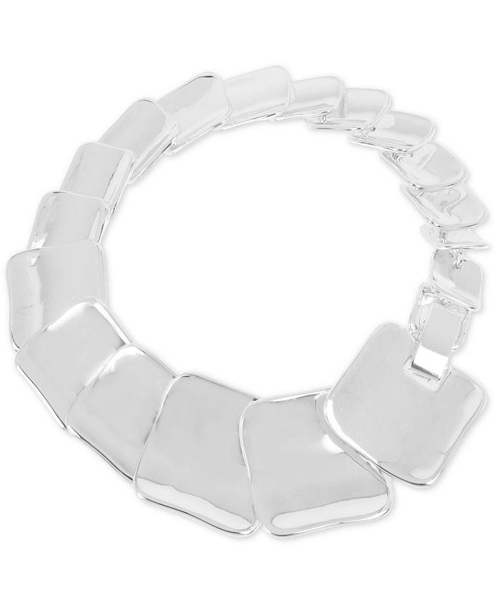 Robert Lee Morris Soho - Silver-Tone Sculptural Square Link Bracelet