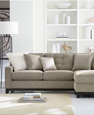 clarke fabric sectional sofa living room furniture sets u0026 pieces - Macys Living Room Furniture