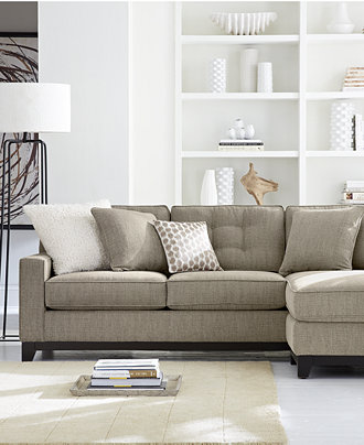 Clarke Fabric Sectional Sofa Living Room Furniture Sets