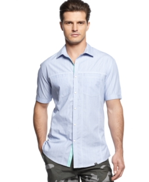Marc Ecko Shirt SlimFit Striped ShortSleeve Shirt