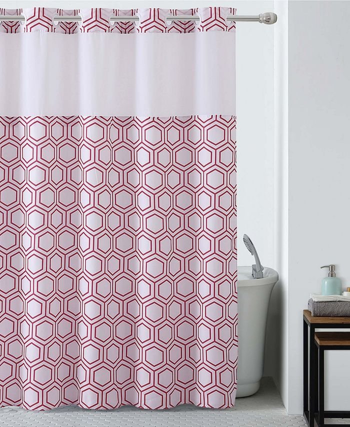 Hookless - Metro Hex Shower Curtain with Peva Liner