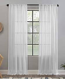 Clean Window Crushed Texture Anti-Dust Sheer Curtain Collection