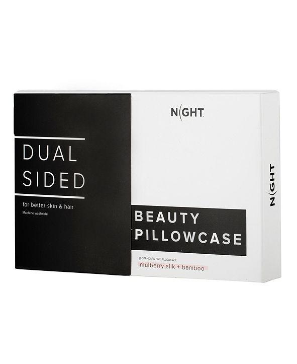 SHINE by NIGHT NIGHT Dual Sided Silk + Bamboo King Pillowcase
