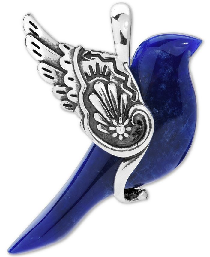 American West - Sodalite Bird Pendant in Sterling Silver