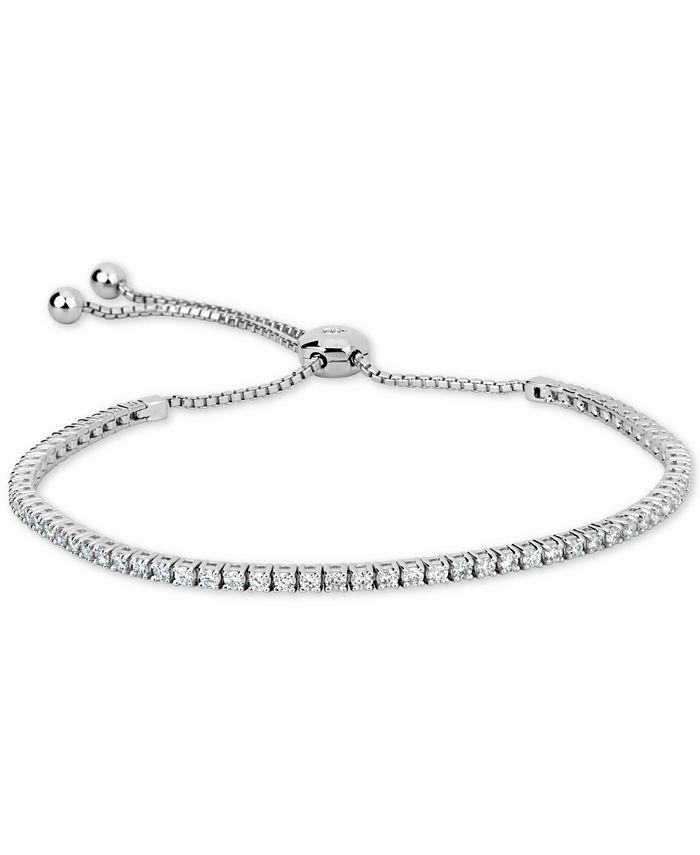 Macy's - Certified Diamond Bolo Bracelet (1-1/3 ct. t.w.) in 14k White Gold