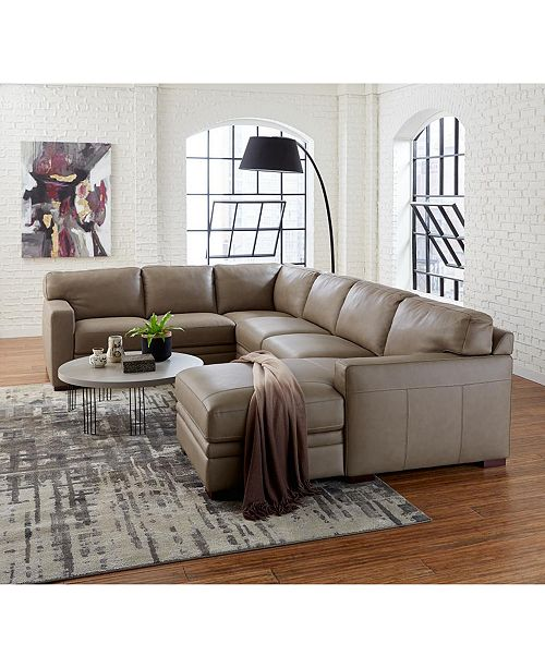 Furniture Avenell Leather Sectional And Sofa Collection Created For Macy S Reviews Furniture Macy S