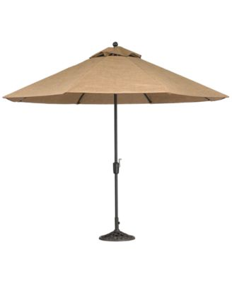 Beachmont II Outdoor 11' Umbrella with Base, Created for Macy's