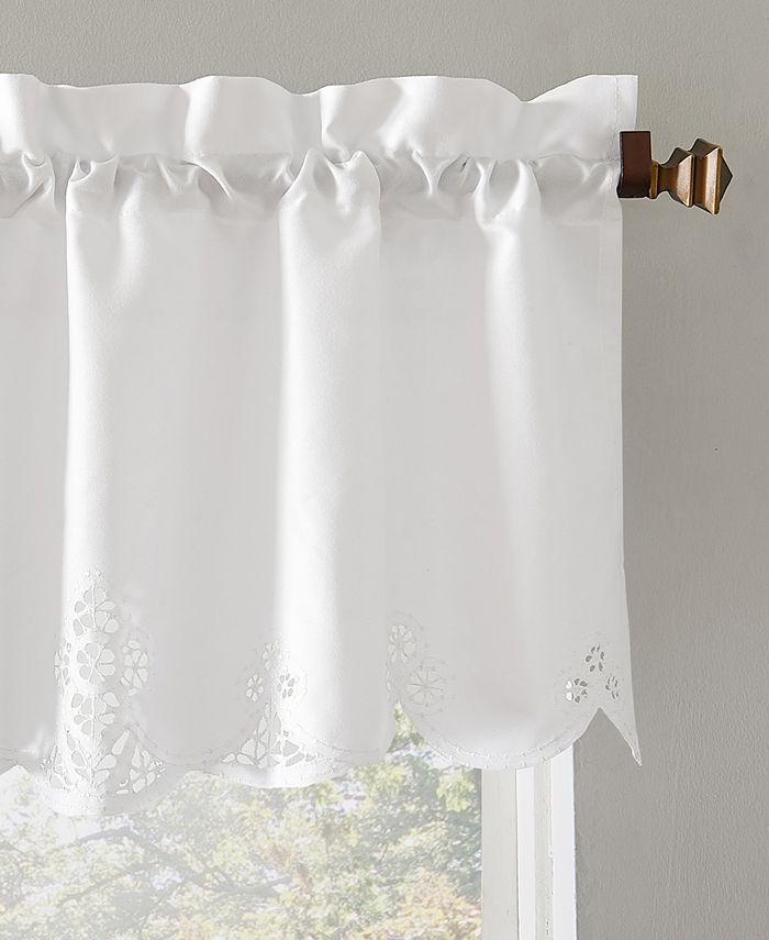 No 918 Mariela 58 X 14 Battenburg Lace Trim Window Valance Reviews Curtains Drapes Treatments Blinds Macy S