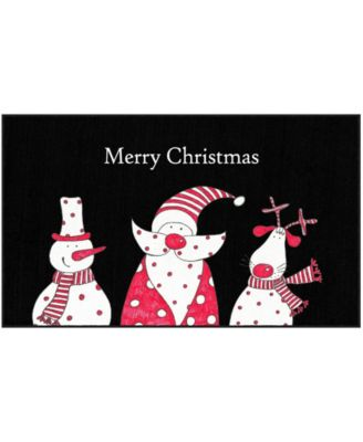 """Christmas Friends Accent Rug, 18"""" x 30"""""""