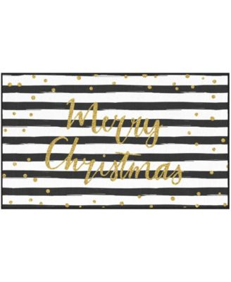 """Christmas Stripe Accent Rug, 30"""" x 50"""""""