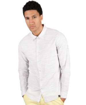 Marc Ecko Cut  Sew Shirt Long Sleeves SlimFit Dreadnought Stripe