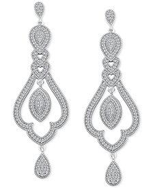 Diamond Vintage-Inspired Drop Earrings (1/2 ct. t.w.) in Sterling Silver