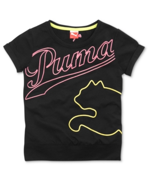 Puma Kids TShirt Girls Oversized Logo Tee