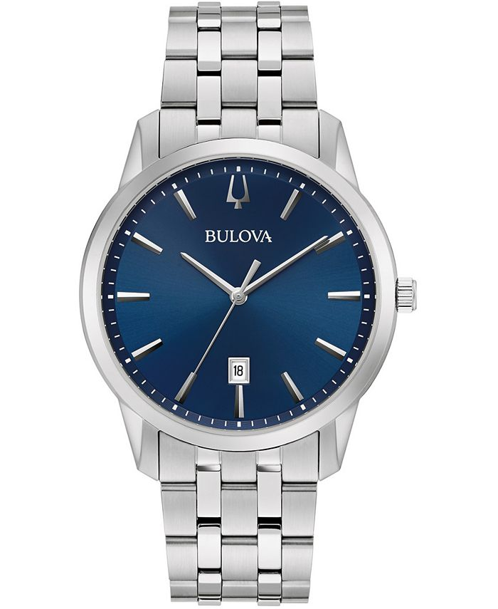 Bulova - Men's Sutton Stainless Steel Bracelet Watch 40mm