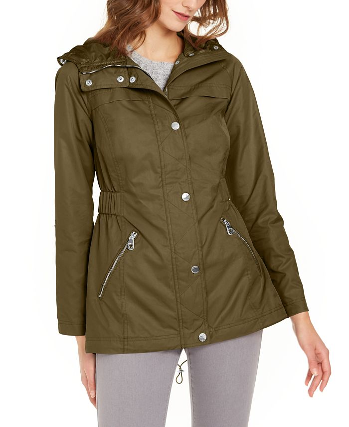 GUESS - Adjustable-Waist Hooded Anorak