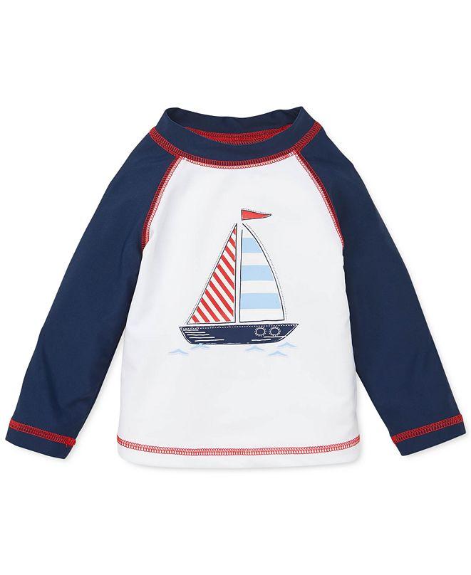 Little Me Baby Boys Sail Boat Rash Guard