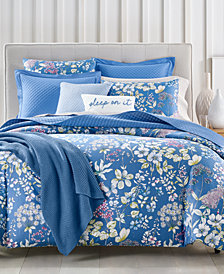 Charter Club Damask Designs Meadow Cotton 300-Thread Count 2-Pc. Twin Duvet Cover Set, Created for Macy's