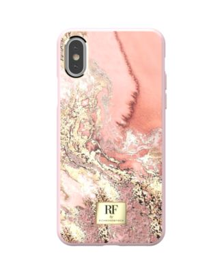 Pink Marble Gold Case for iPhone X