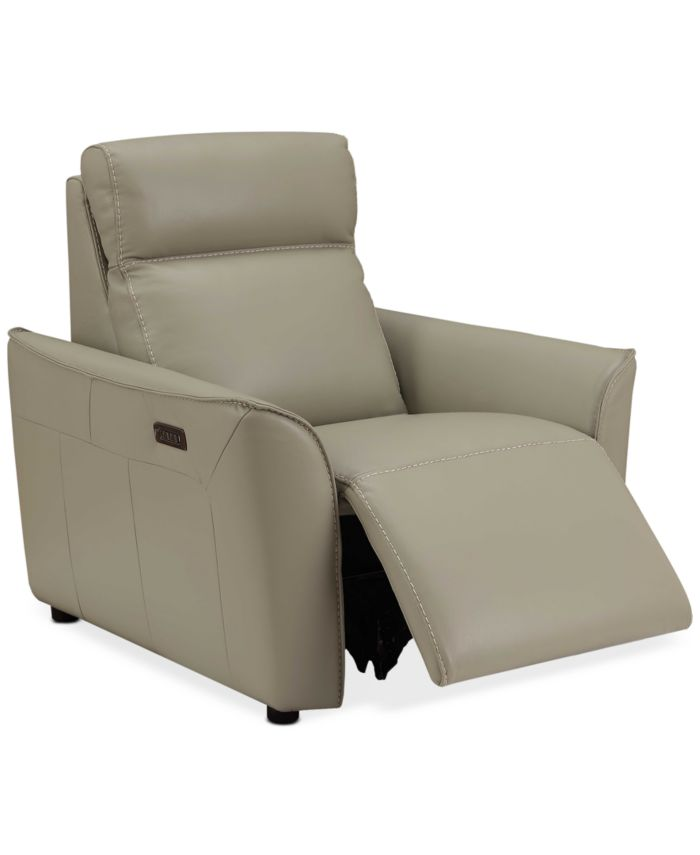 """Furniture CLOSEOUT! Sophine 36"""" Leather Power Motion Recliner, Created for Macy's & Reviews - Furniture - Macy's"""
