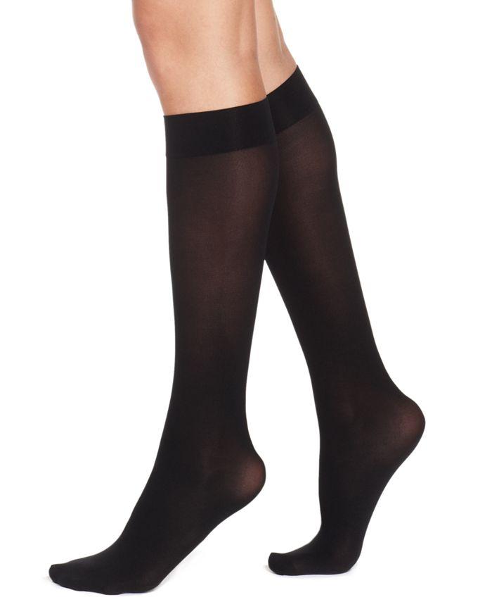 Hue Women S Soft Opaque Knee High Trouser Socks Reviews Handbags Accessories Macy S