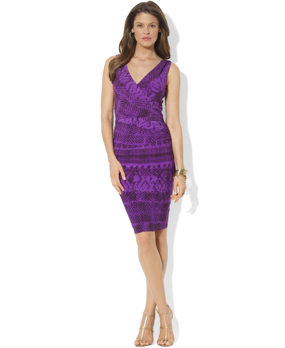 Lauren Ralph Lauren Dress, Sleeveless Ruched   Dresses   Women