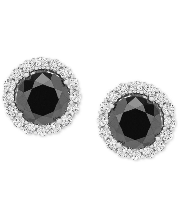 Wrapped in Love - Diamond Halo Stud Earrings (1-1/2 ct. t.w.) in 14k White Gold