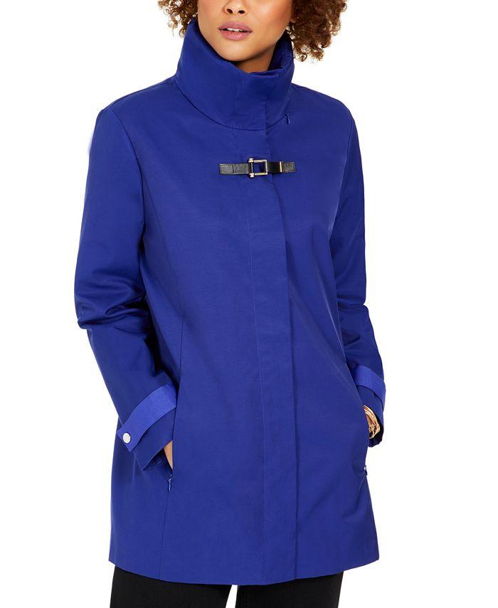 Cole Haan - Hooded Buckled Raincoat