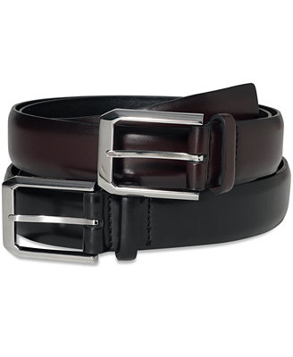 Geoffrey Beene Soft Touch Leather Dress Belt