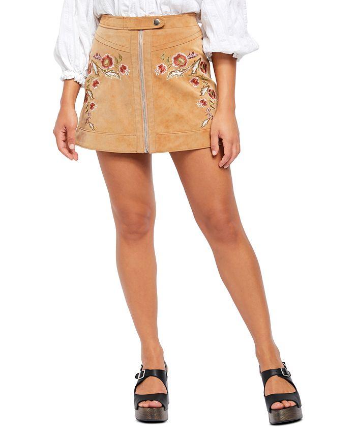 Free People - Alanis Moto Mini Skirt