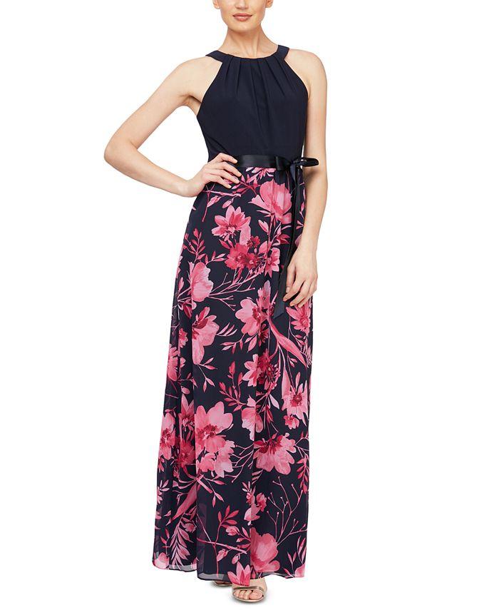 SL Fashions - Floral-Print Maxi Dress