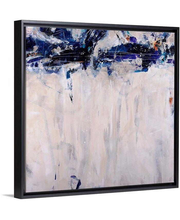 "GreatBigCanvas - 36 in. x 36 in. ""Beethoven in Blue"" by  Jodi Maas Canvas Wall Art"