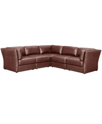 Luke Leather Sectional Sofa 3 Piece 2 Loveseats And