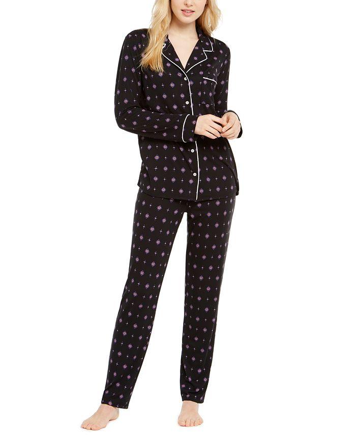 Alfani - Printed Super-Soft Pajamas Set