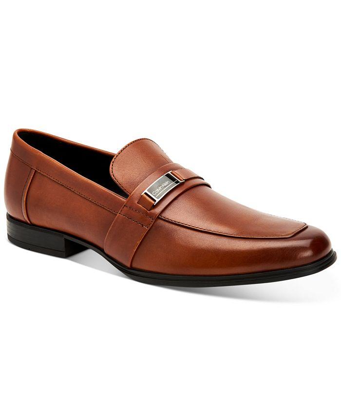 Calvin Klein - Men's Drystan Crust Leather Loafers